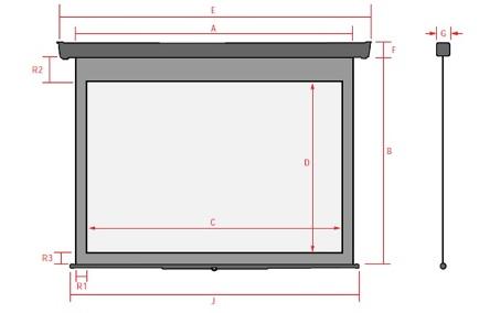 Экран с электроприводом с матово-белым полотном большого размера MW Electric Screen Silver - компания VEGA