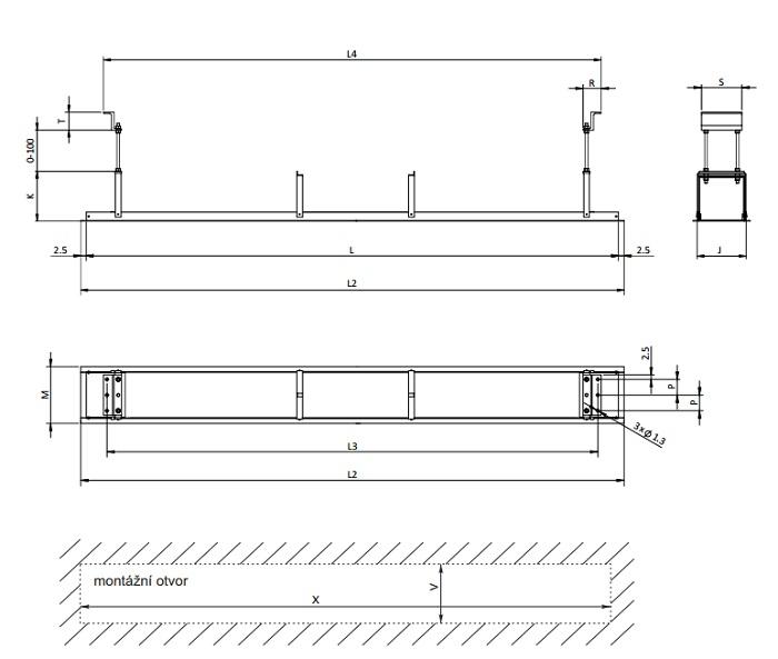 Размеры Installation Frame Jumbo