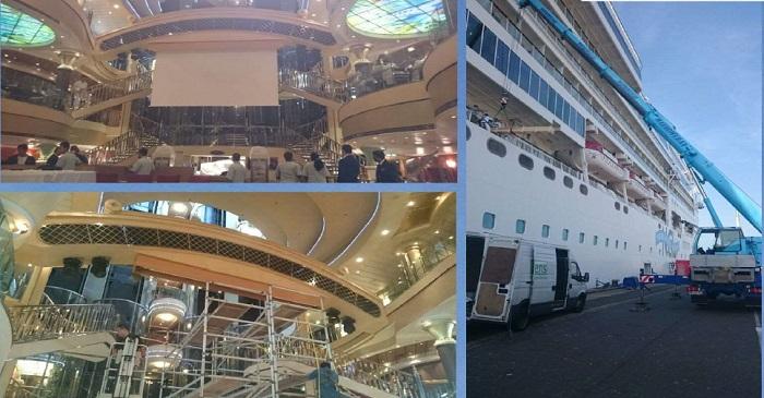 Пример установки Rollo Jumbo на океанском лайнере