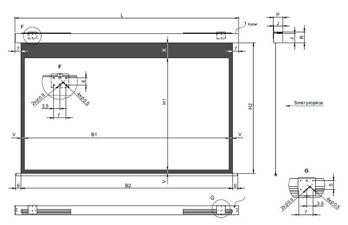 Размеры экрана JT Motors Rollo Pro Electric