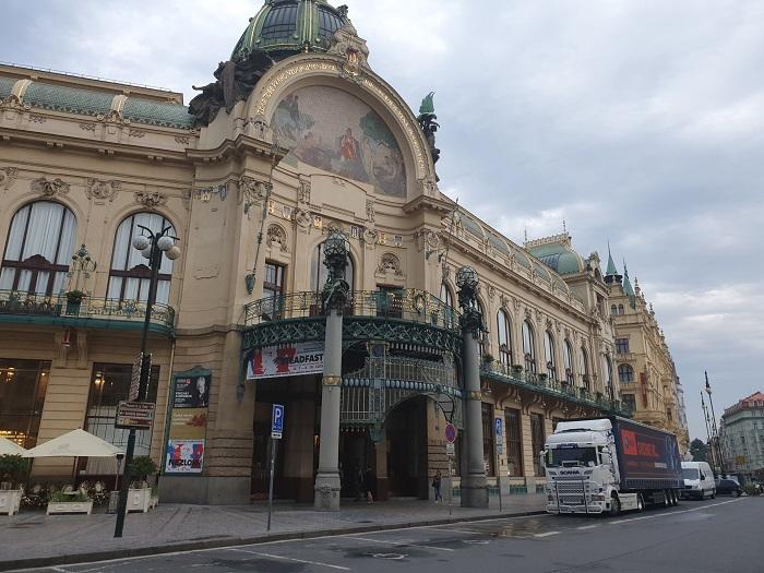 Историческое здание Муниципального дома в центре Праги
